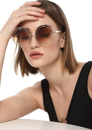 THE TIME IS YOURS BROWN ROUND SUNGLASSES