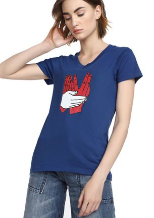 MAD FAT MONKEY ALWAYS CARED BLUE T-SHIRT