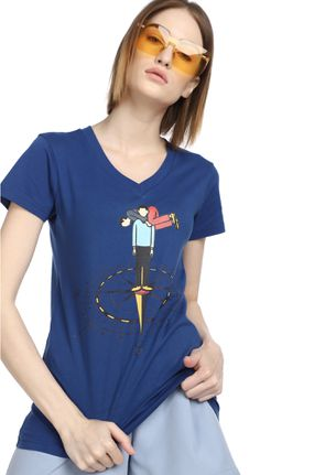 MAD FAT MONKEY THE PSYCHE BLUE T-SHIRT