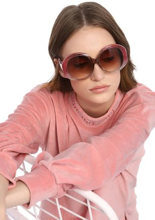 CAN'T GIVE A DAMN PINK RETRO SUNGLASSES