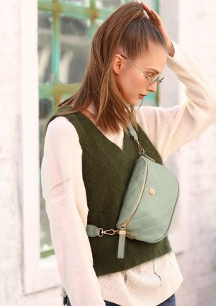 DO YOUR THING GREEN SLING BAG