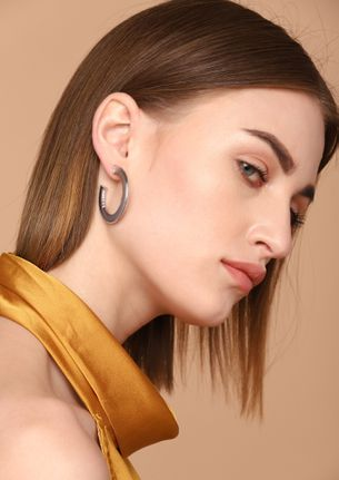 GOSS BABE SHINE AND LOVE SILVER EARRINGS