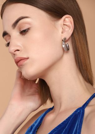 GOSS BABE FIRE AND SPICE SILVER EARRINGS