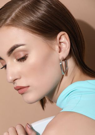 GOSS BABE HIGH ON LOVE SILVER EARRINGS