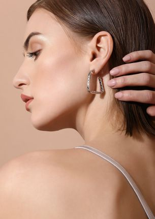 GOSS BABE LOVE AND HAPPINESS SILVER EARRINGS