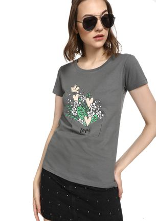 MAD FAT MONKEY  WARPED LOVE GREY T-SHIRT