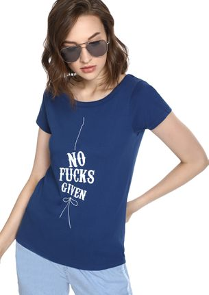 MAD FAT MONKEY LUCKS GIVEN NAVY T-SHIRT
