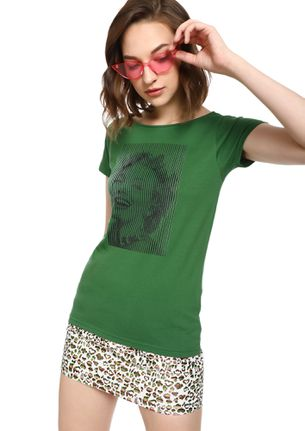 MAD FAT MONKEY DREAMS ON FIRE GREEN  T-SHIRT