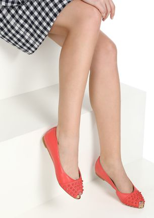 HI THERE GIRL RED FLAT SANDALS