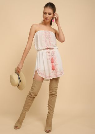 HAPPY SUNSHINE WHITE TUNIC DRESS