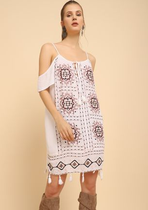BLOCK AND BLOCK FOR YOU WHITE SHIFT DRESS