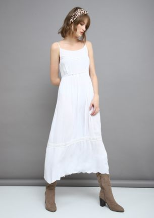 AMIDST SERENITY WHITE MAXI DRESS