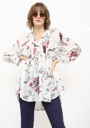 READY FOR THE CITY-STREETS WHITE TUNIC SHIRT