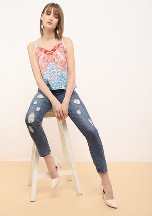 SPRING FLING MULTICOLOURED CAMI TOP