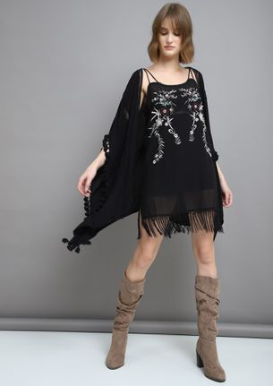 DAY OUT BLACK SHIFT DRESS