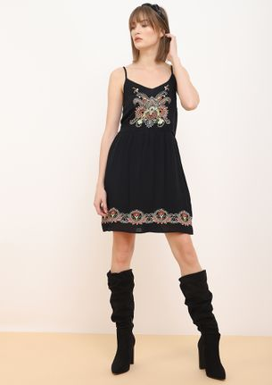 DANCING DAYS BLACK SKATER DRESS