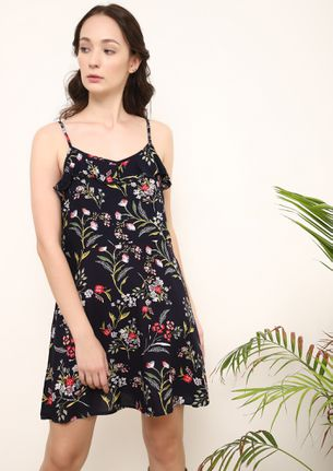 FOUND THE SUNDRESS NAVY TUNIC DRESS