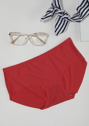 SEAMLESS MID WAIST HIPSTER IN RED