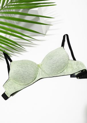 LIGHTLY PADDED FOR COMFORT ARMY GREEN BRA