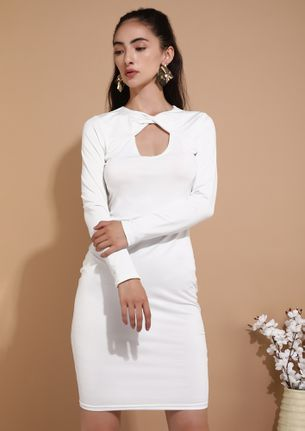 OUT FROM THE MESS WHITE PENCIL DRESS