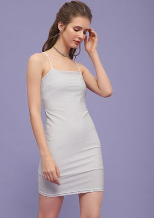 LIFE IS A PARTY WHITE BODYCON DRESS