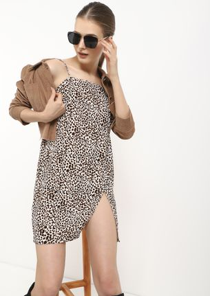 WE AIM HIGH BROWN SHIFT DRESS