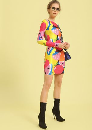 A FRUITY PUNCH MULTICOLOR BODYCON DRESS