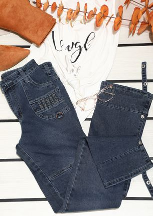 LET THE FUN FLARE BLUE JEANS