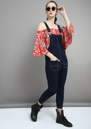 THE GOING-OUT BLUE DENIM DUNGAREE