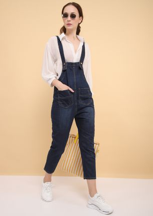 LAIDBACK-COOL ALL DAY BLUE DENIM DUNGAREE