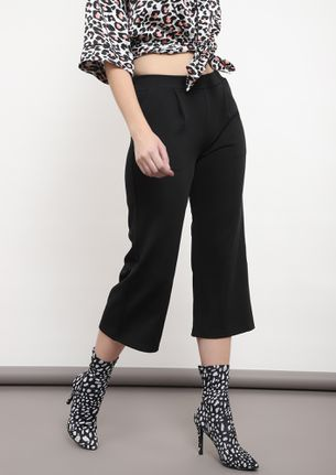 THE WIDER THE BETTER BLACK CULOTTES