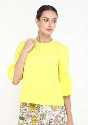 BE WITH ME YELLOW BLOUSE