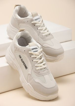 AMP IT UP IVORY SNEAKERS