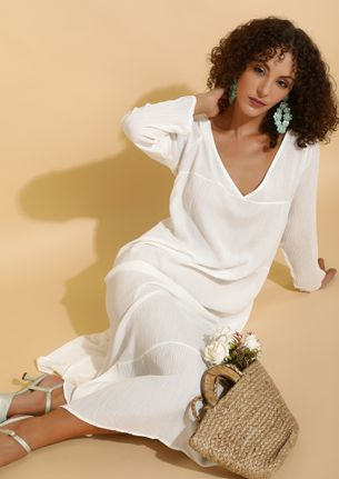 LONGED FOR YOU WHITE TUNIC TOP