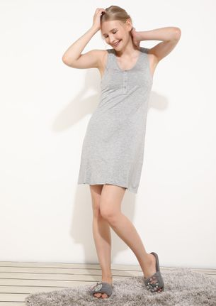 Lovely Time To Be In Grey Shirt Dress