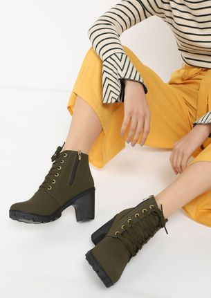 NINE-TO-NINE BEYOND GREEN ANKLE BOOTS