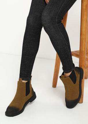 SHADES OF WINTER BROWN CHELSEA BOOTS