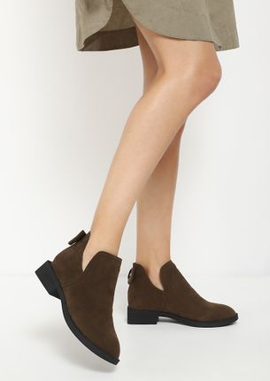LITTLE TOO LATE KHAKI ANKLE BOOTS