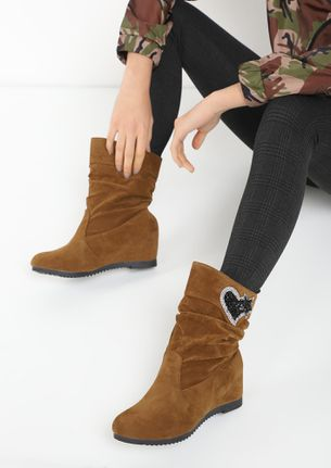 MY NEW FLING BROWN ANKLE BOOTS