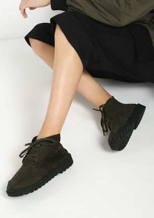 KEEP YOUR CALM OLIVE GREEN CASUAL SHOES
