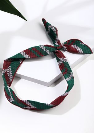 KNOT IN HERE GREEN HAIRBAND