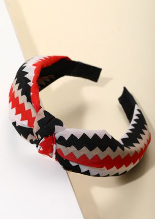 CHEVRON IN YOUR DIRECTION RED HAIRBAND