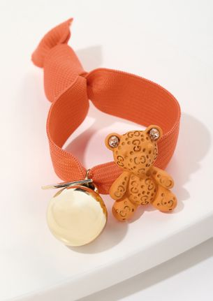 TEDDY LOVE ORANGE SCRUNCHIE