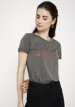 THE WEEKEND LOVER GREY T-SHIRT