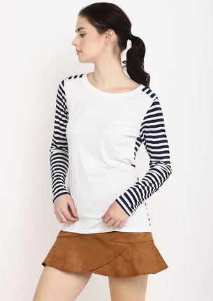 STRIPES TO COUNT WHITE T-SHIRT