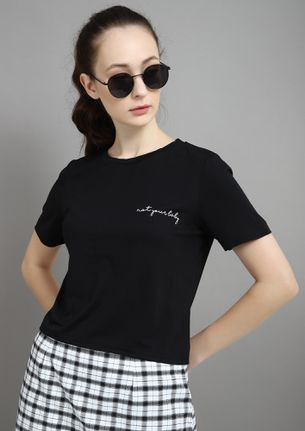 NOT YOUR BABY BLACK T-SHIRT