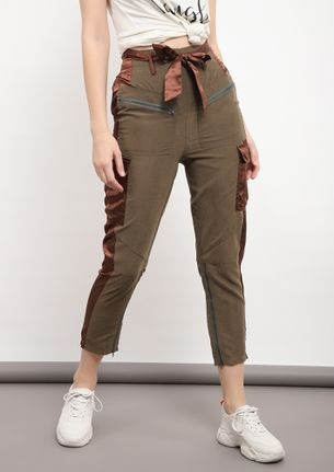 LETS ROLL ARMY GREEN TROUSERS