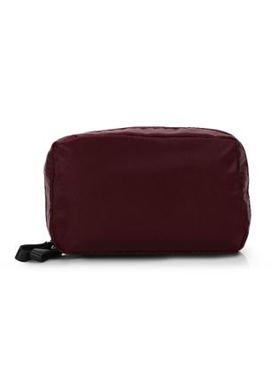 I DON'T CARE BURGUNDY MAKE-UP POUCH
