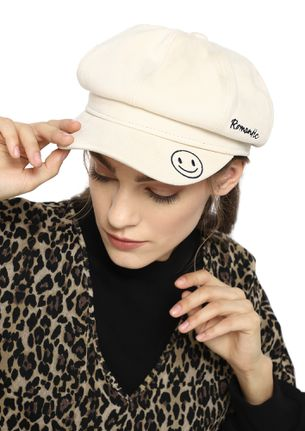 HAPPILY ROMANTIC IVORY BAKER BOY CAP