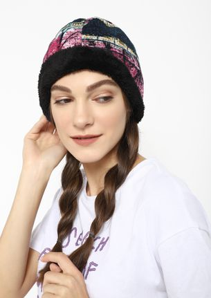 LIKE THE RUSSIANS FUCHSIA REVERSIBLE BEANIE